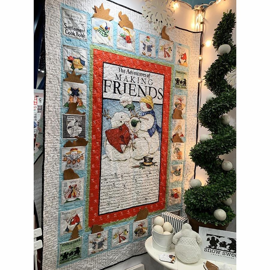 Sweet Snow Advent Calendar by J. Wecker Frisch for Riley Blake Fabrics