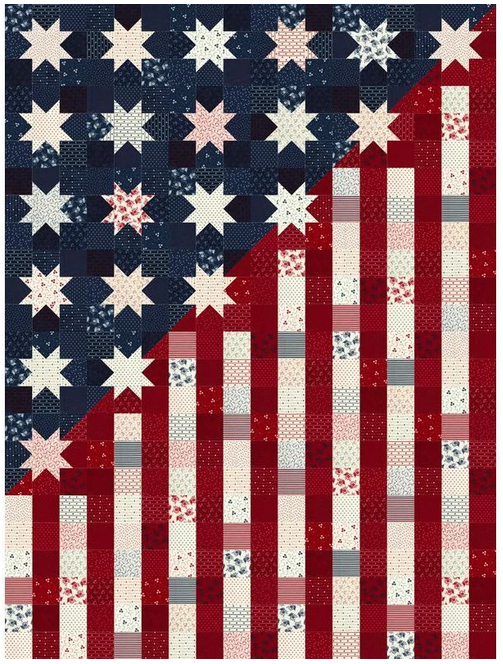 Our Flag Stands for Freedom Kit 4 by Lisa Bonjean of Primitive Gatherings for Moda Fabrics
