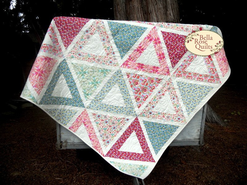 Chopsticks Quilt Kit using Cold Spring Dreams by RJR Fabrics