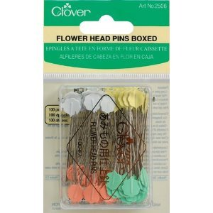 Clover Flower Head Pins- Size 32, 100 Count