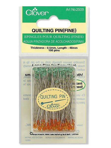 Clover Quilting Pins- Size 30, 100 Count