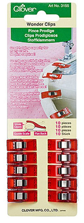 Wonder Clips- Red, 10 Count