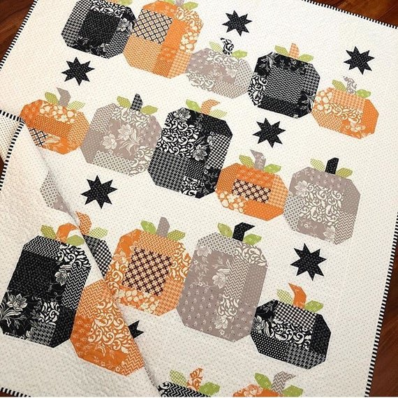 Hocus Pocus Quilt Kit WITH BACKING Made with All Hallowes Eve fabric by Joanna Figeroa for Moda fabrics. - copy