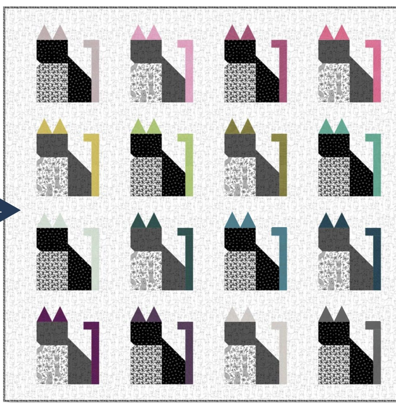 Happy Cats Quilt Free Pattern Download