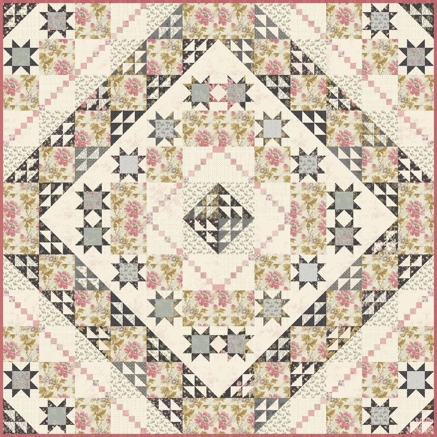 *Pre-Order* Sweet Pea Quilt Kit featuring Moonstone by Laundry Basket Quilts