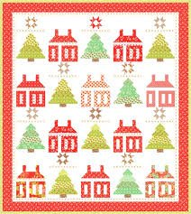 Little House in the Woods Kit w/Backing by Joanna Figeroa of Fig Tree Quilts using Fig Tree Quilts 2 by Moda Fabrics