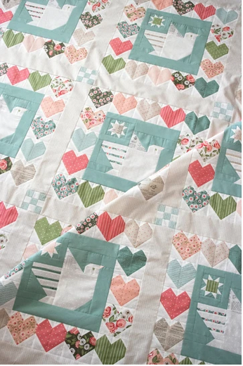 *Pre-Order* Lovey Dovey Boxed Quilt Kit ~ Lella Boutique for Moda