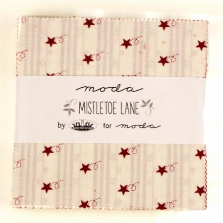 Mistletoe Lane Charm Pack by Bunny Hill Designs for Moda