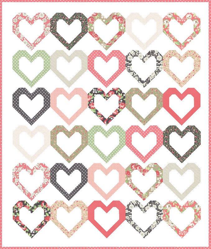 Open Heart Quilt Kit by Vanessa Guertzen of Lella Boutique for Moda Fabrics