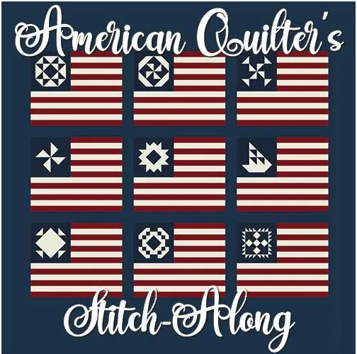 American Quilter's Stitch-Along Kit (Navy Background)