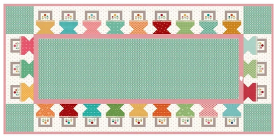 Prim Baskets Tablerunner Kit by Lori Holt of Bee in My Bonnet for Riley Blake Designs