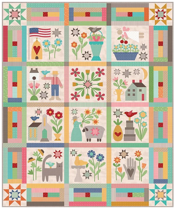 Prim Quilt Sew Along Kit w/Backing by Lori Holt of Bee in My Bonnet
