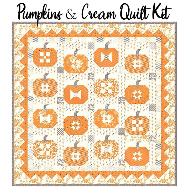 *Preorder* Pumpkins and Cream Quilt Kit w/Backing  by Joanna Figeroa of Fig Tree Quilts for Moda Fabrics