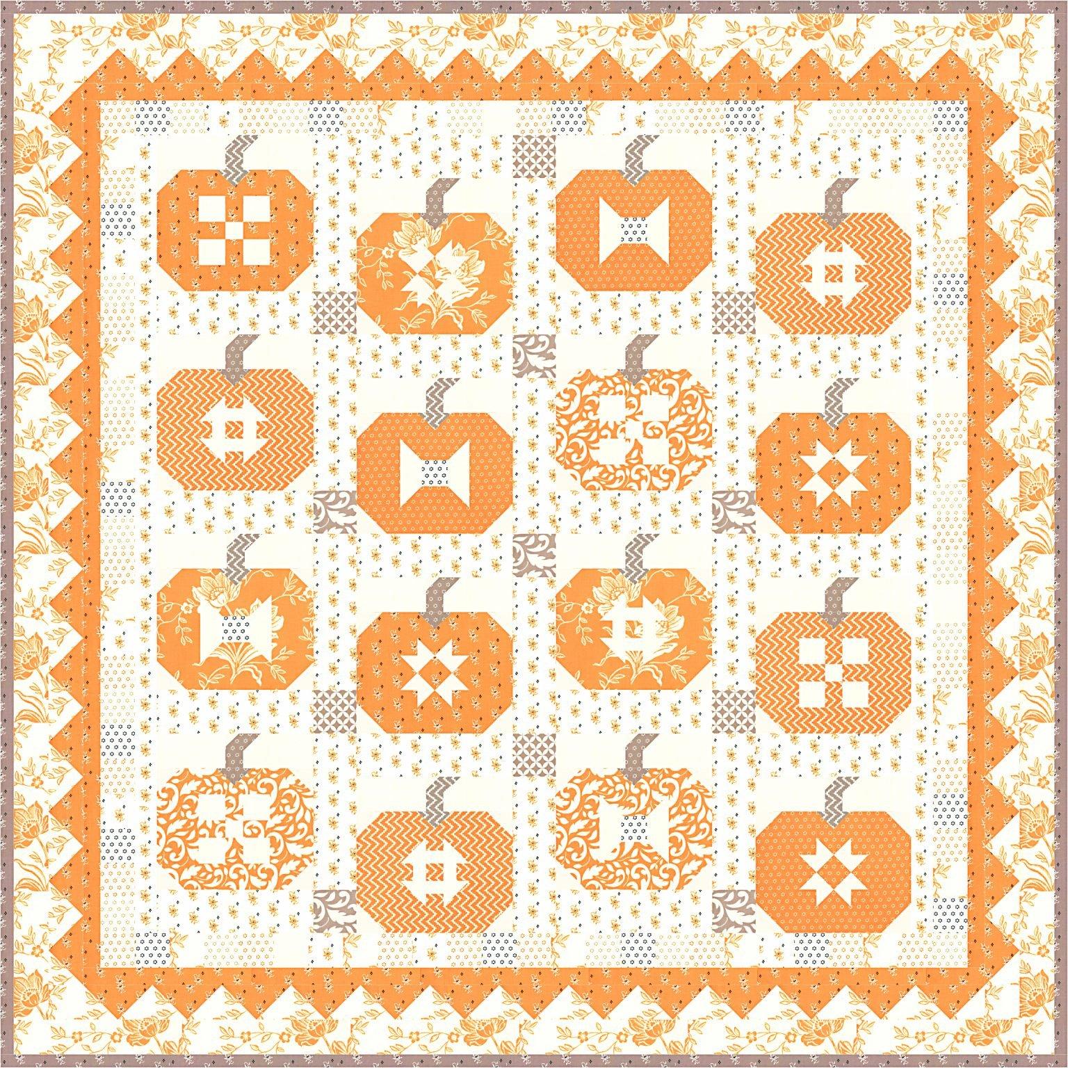 Pumpkins & Cream Quilt Kit