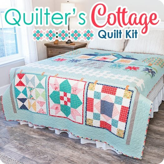 Quilter's Cottage Quilt Kit w/Backing by Lori Holt of Bee in My Bonnet