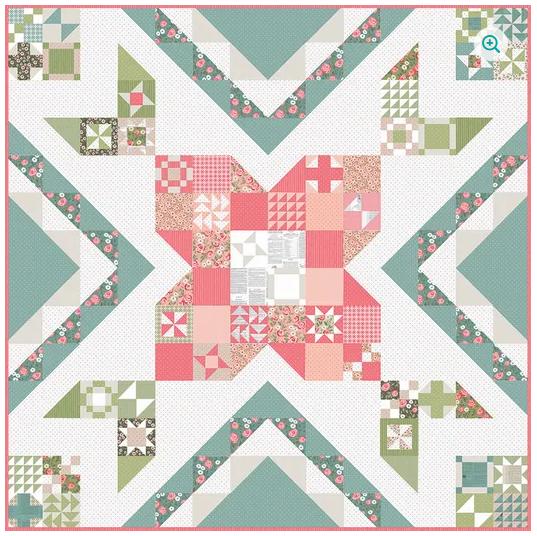 *Reservation* Rose in Bloom Quilt Kit + Book