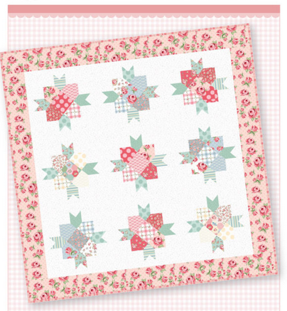*NEW*  Rosies & Posies Quilt Kit featuring Dots & Poisies from Poppie Cotton