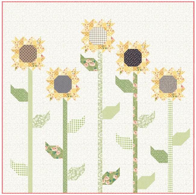 *NEW*  Scrappy Sunflower Quilt Kit