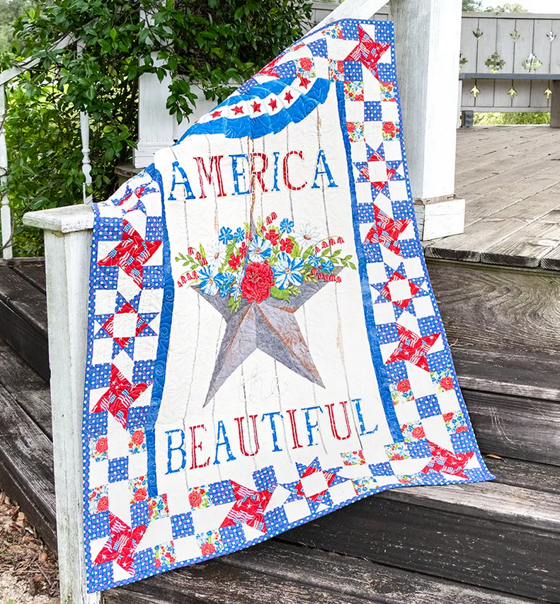 America the Beautiful Quilt with Table Runner Kit by Deb Strain for Moda Fabrics
