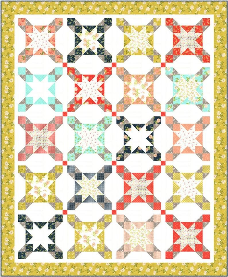 Seaside Quilt Kit ~ featuring Happy Days by Sheri & Chelsi for Moda