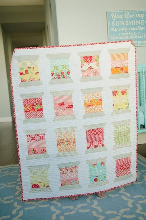 Spools Quilt Kit Thimble Blossoms Using Moda Hello Darling Fabric