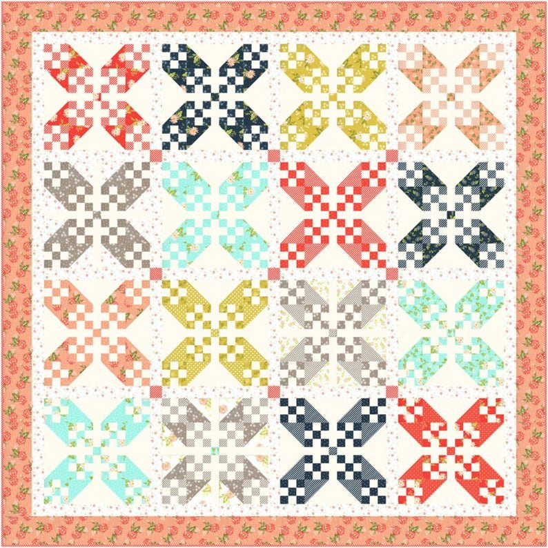 Summer Stroll Quilt Kit ~ featuring Happy Days by Sheri & Chelsi for Moda