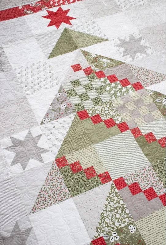 *NEW*  Yule Tree Quilt Kit featuring Christmas Morning for Moda