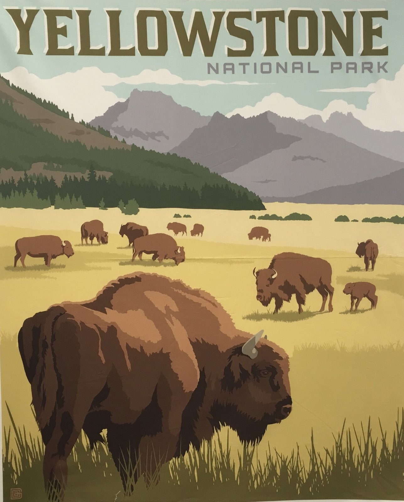 YELLOWSTONE NATIONAL PARKS PANEL P8790  by Riley Blake