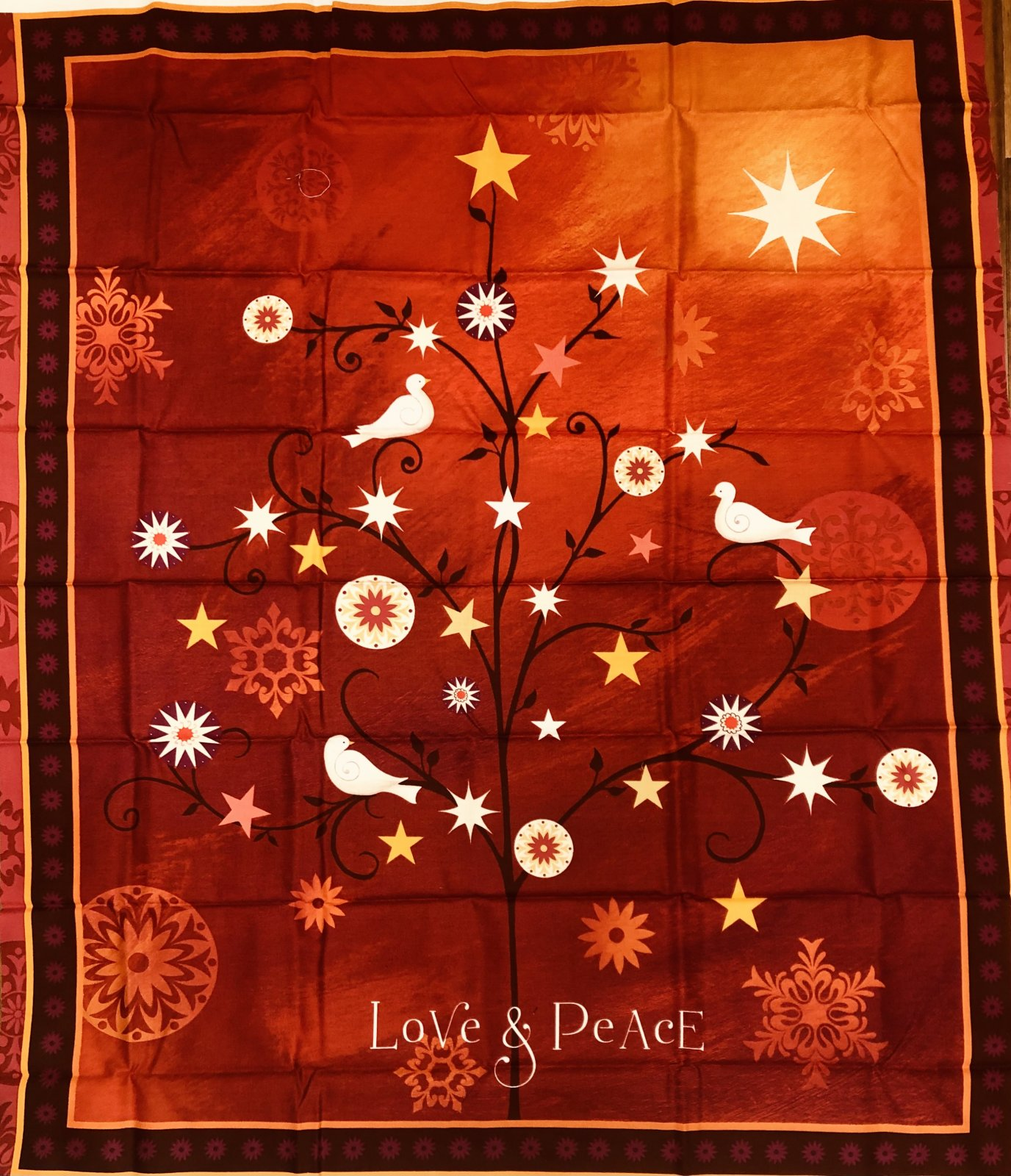 LOVE AND PEACE PANEL Quilting Treasures QT