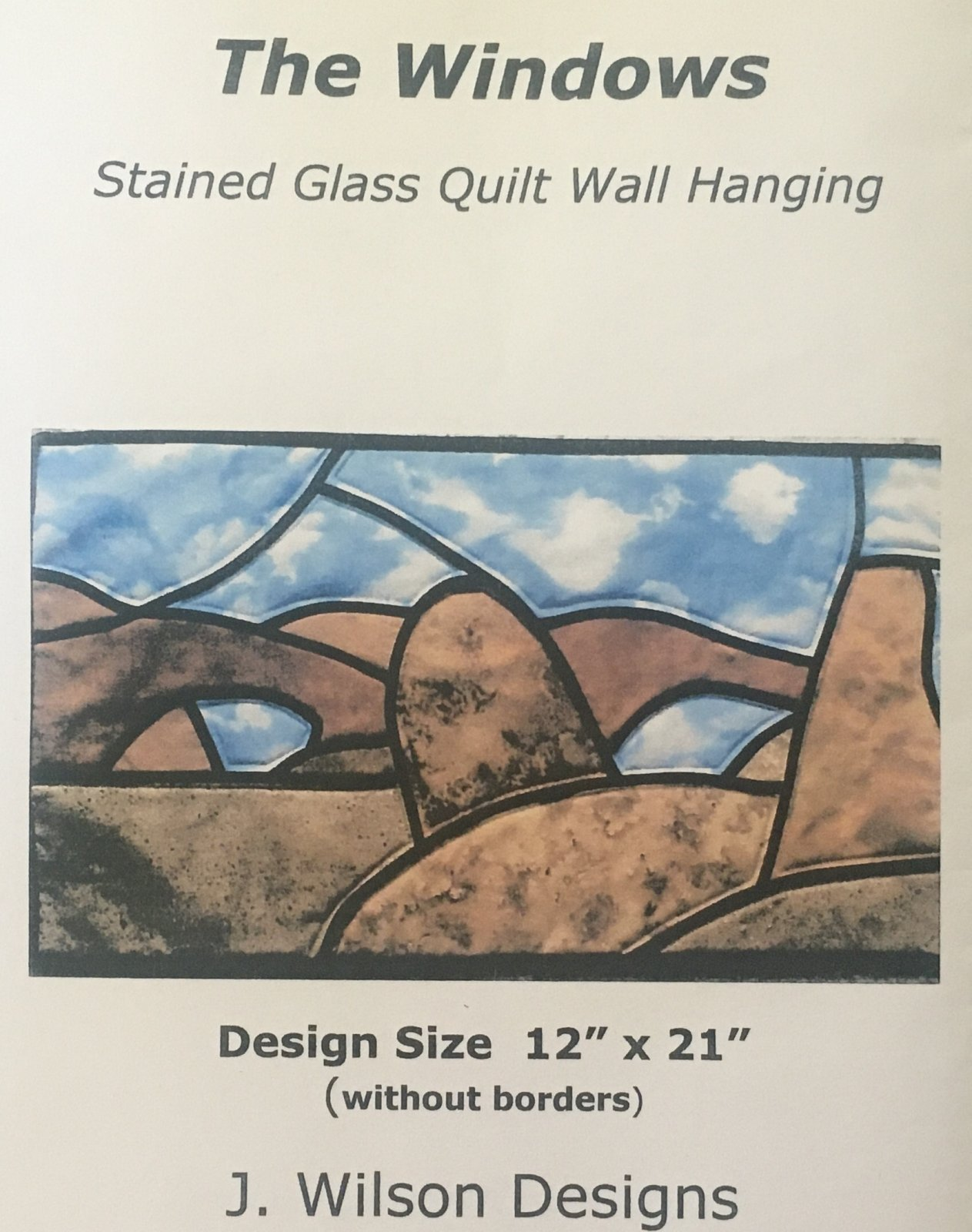 THE WINDOWS OF ARCHES NATIONAL PARK KIT 12 x 21 WALLHANGING J.Wilson Designs