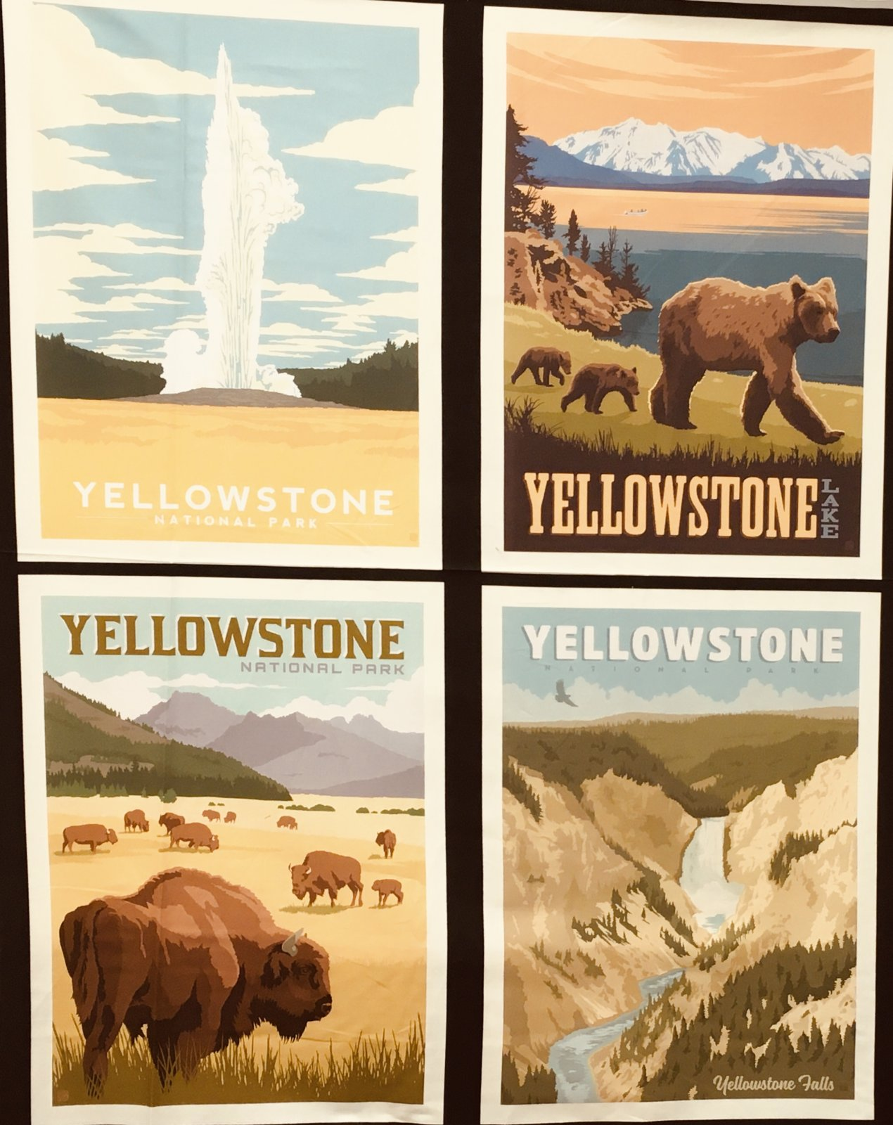 YELLOWSTONE NATIONAL PARKS PILLOW PANEL PP8796 by Riley Blake