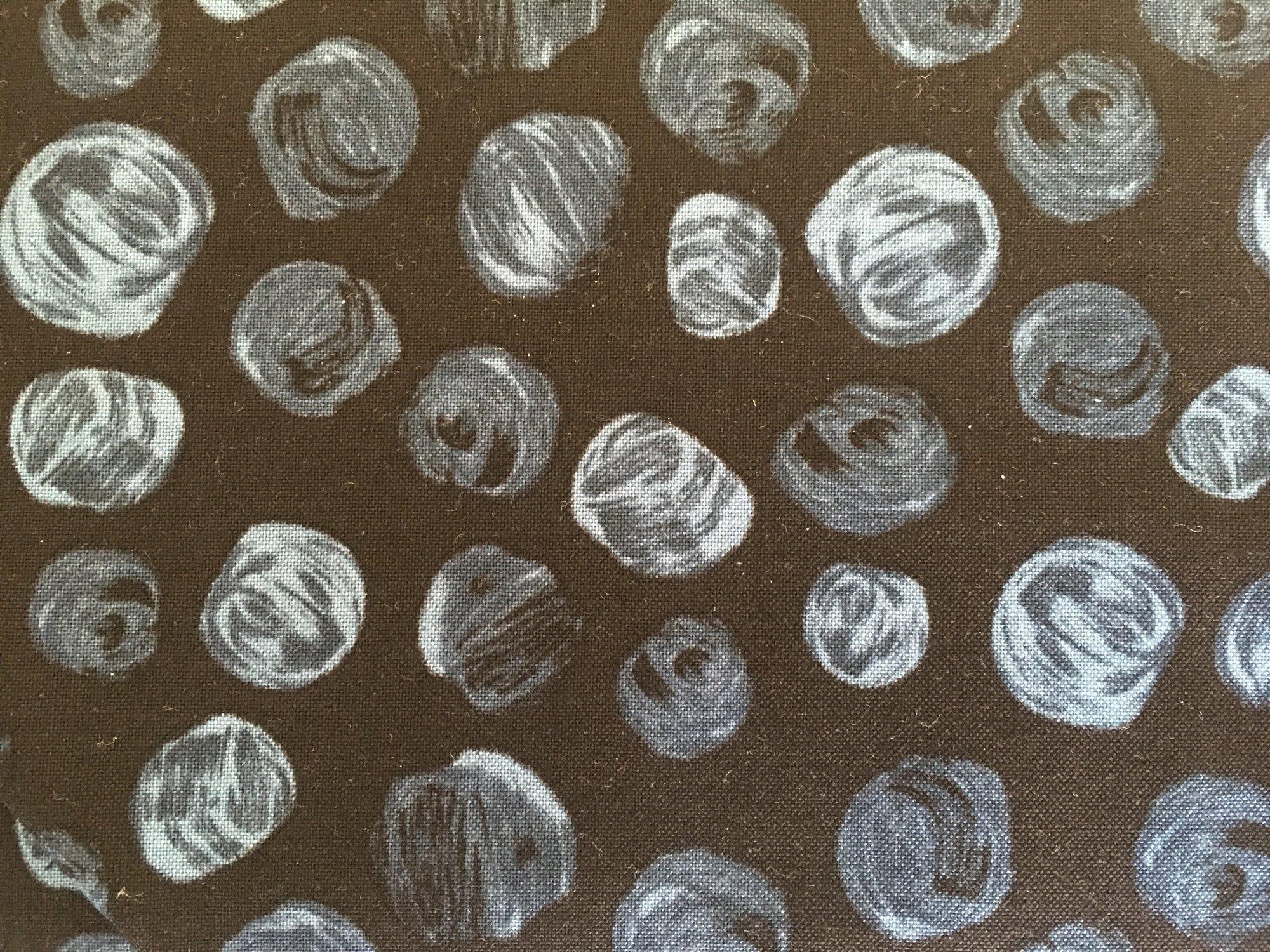 FLORIANNA BEADS BLACK FLOR493 P&B Textiles