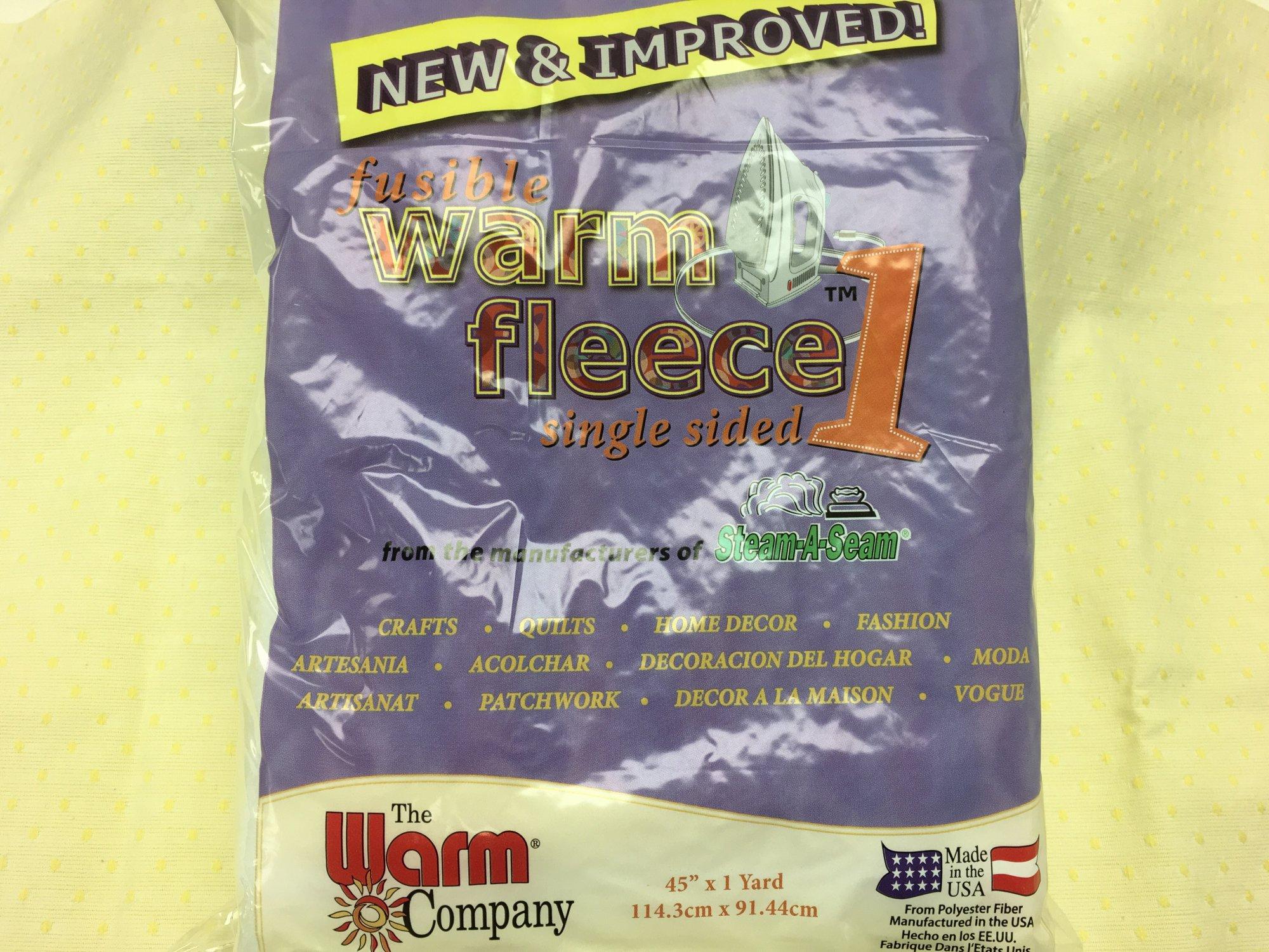 Fusible Warm Fleece 1. 45 x 36