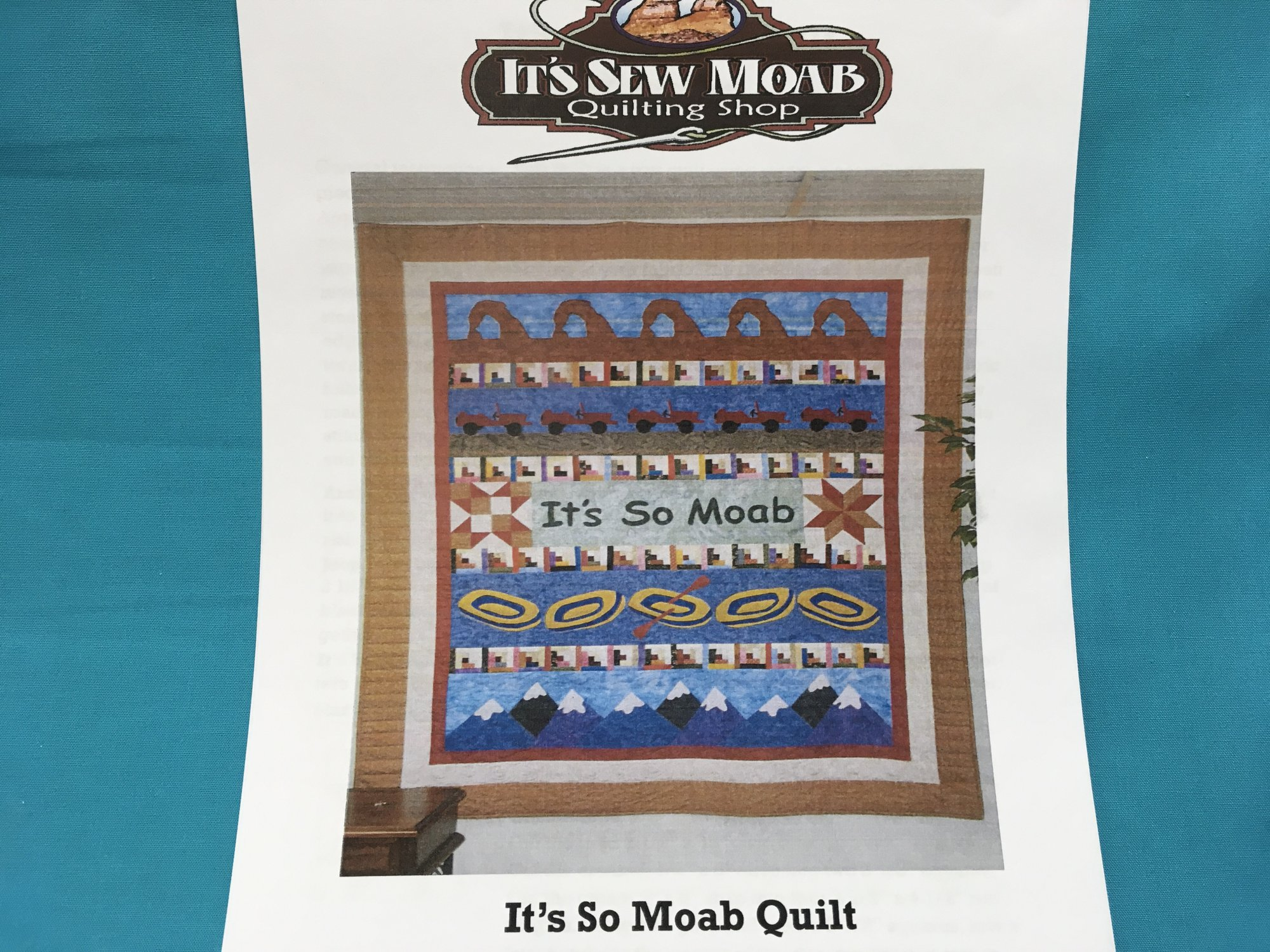 ITS SO MOAB QUILT PATTERN Lazy Dazy Dezigns