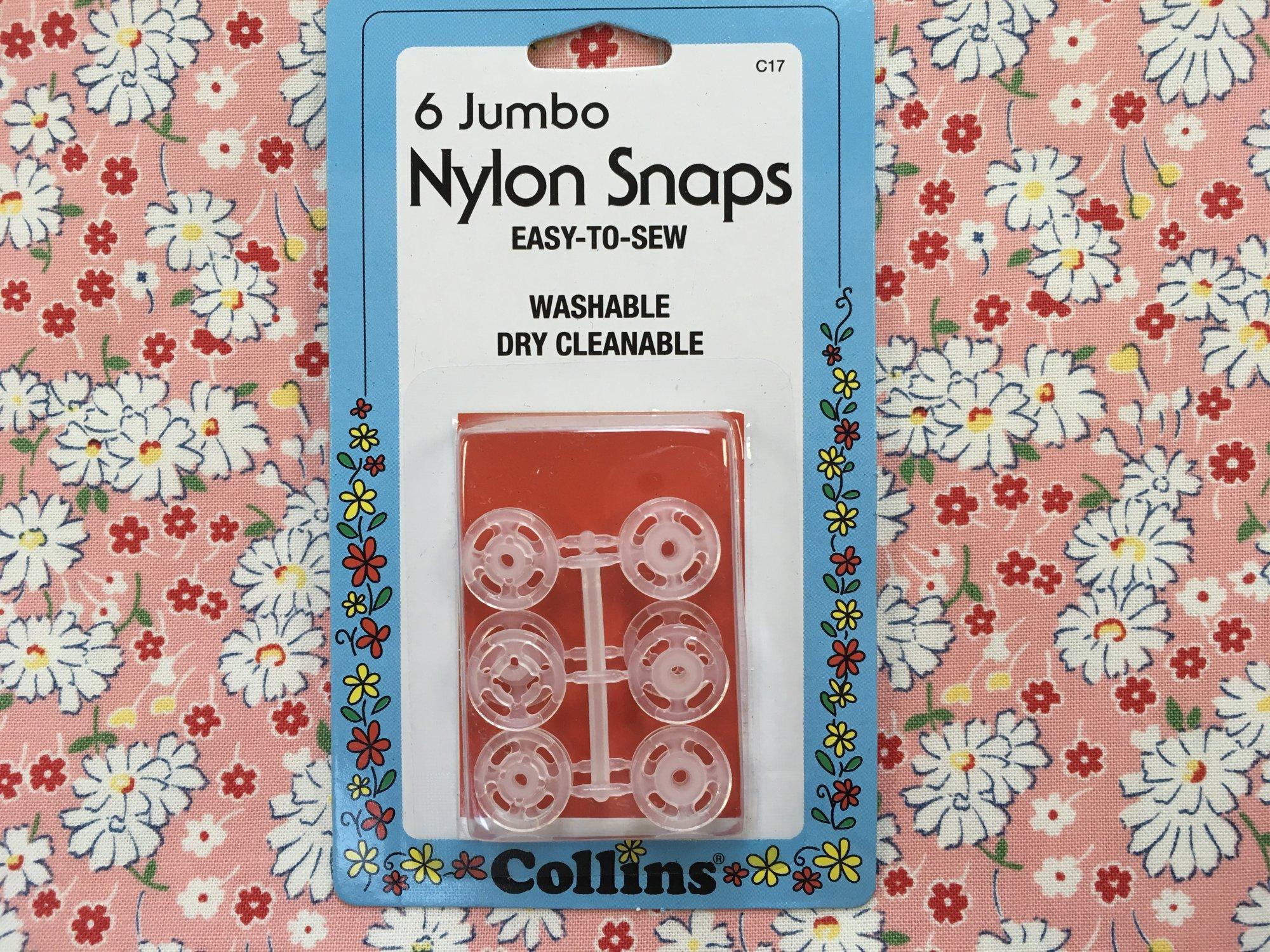 6 Jumbo Nylon Snaps C17 by Collins