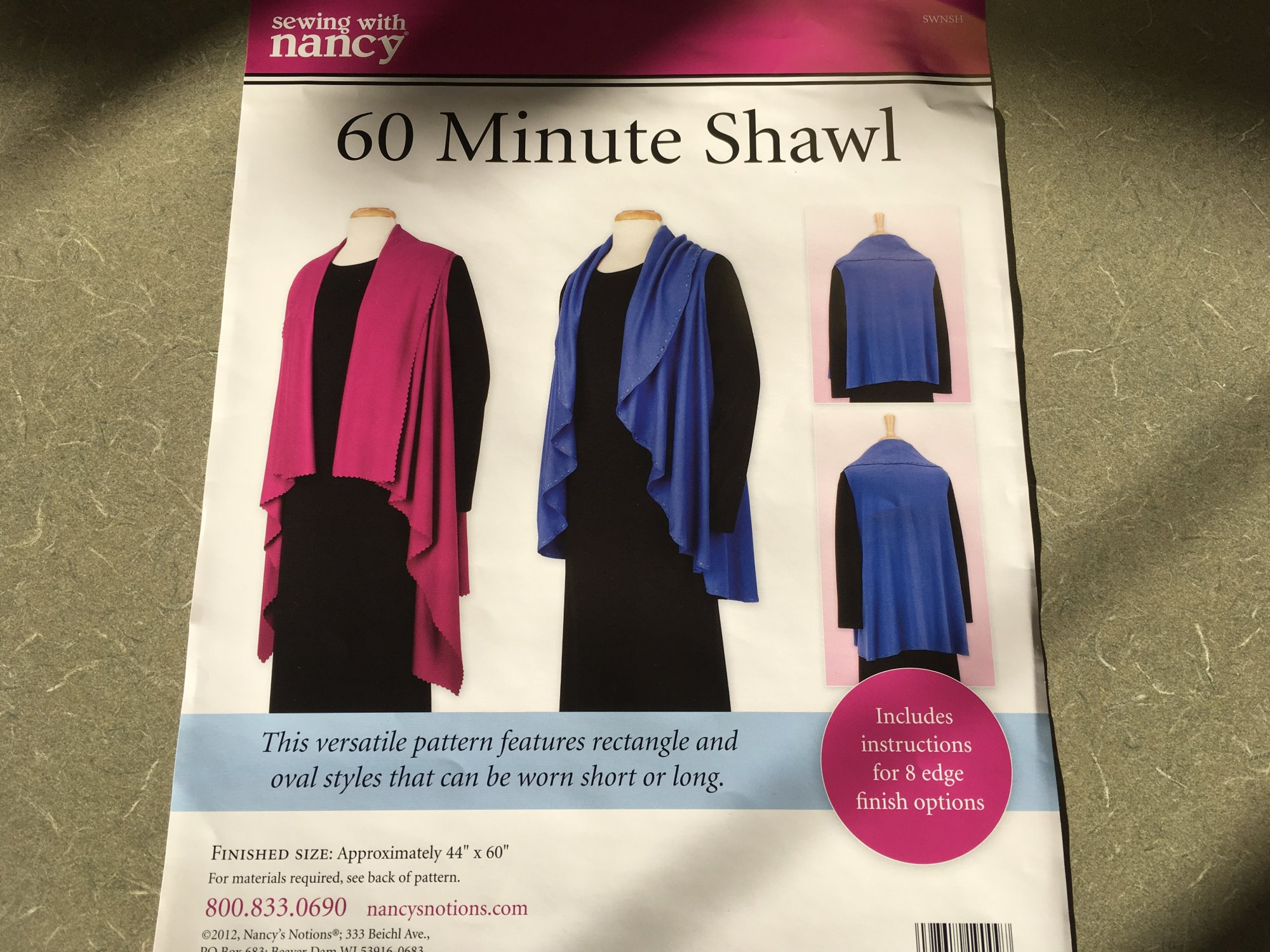 60 MINUTE SHAW PATTERN SWNSH1 Nancy Zieman