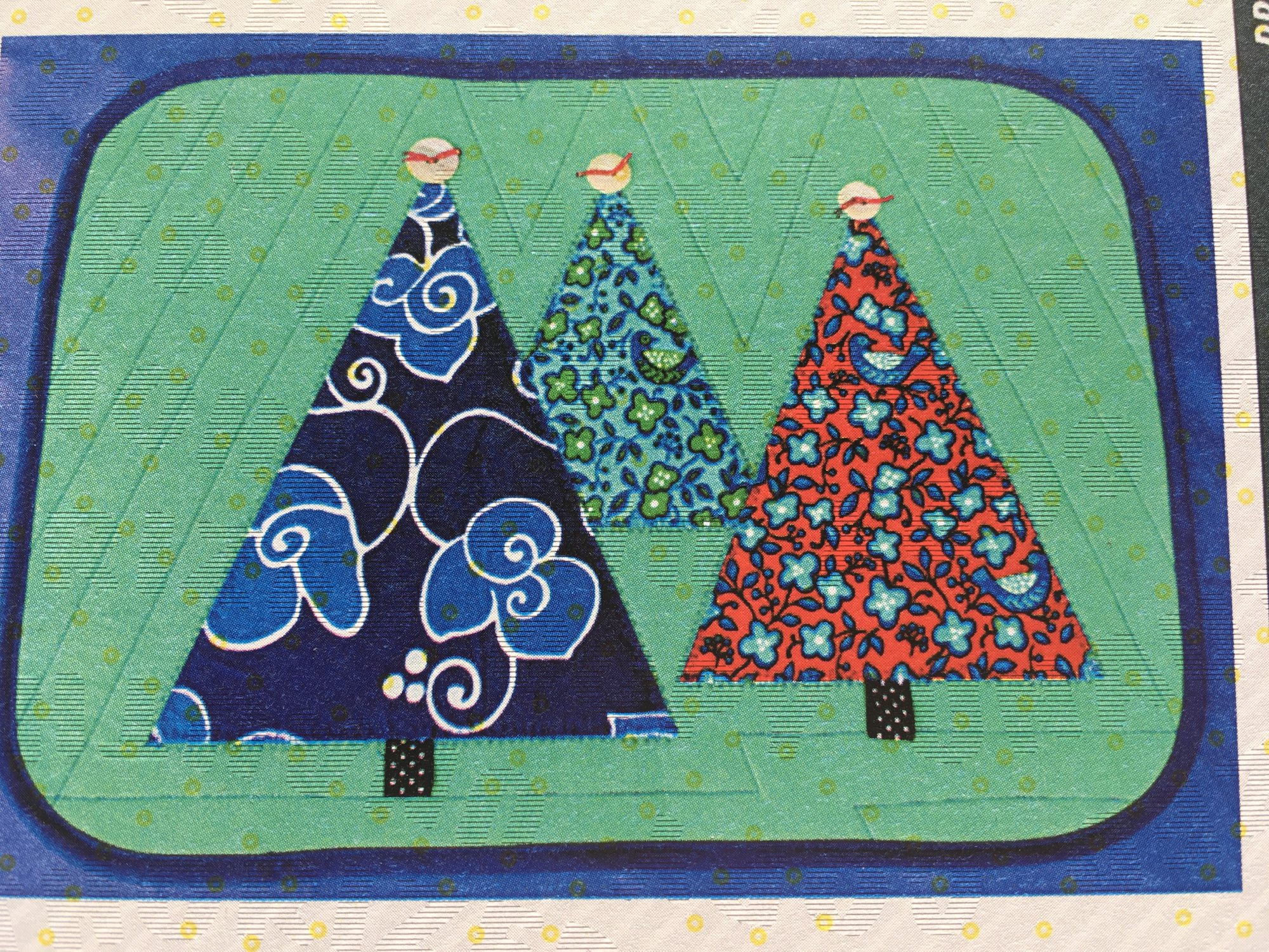 Forest for All Seasons Placemats Pattern by Cut Loose Press