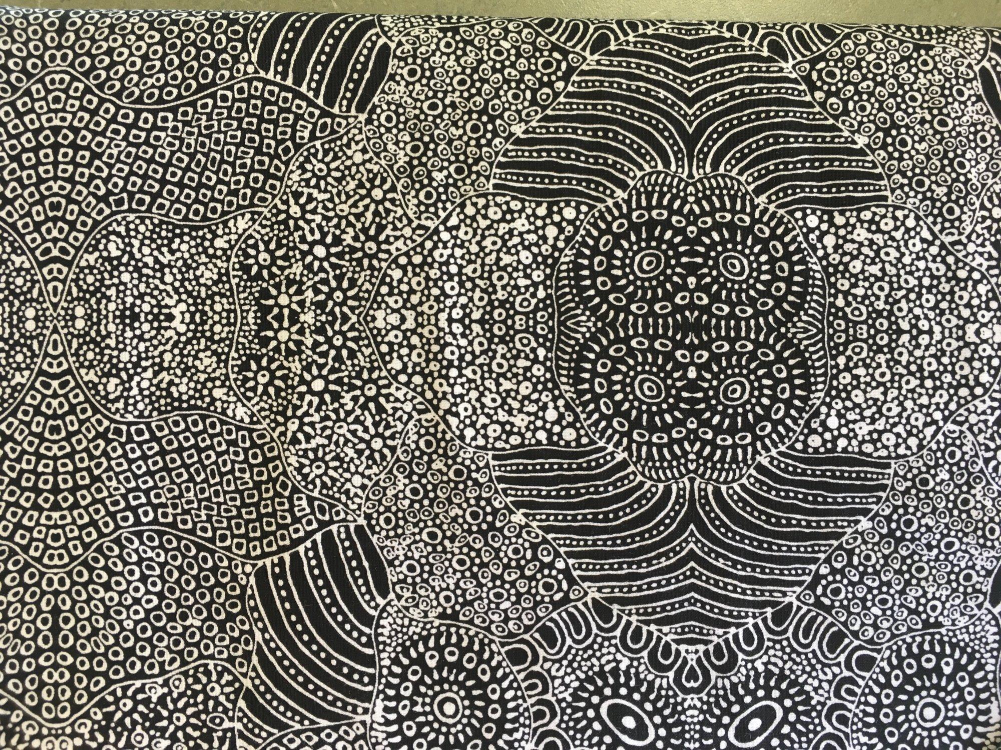 WATERHOLE BLACK by M&S Textiles