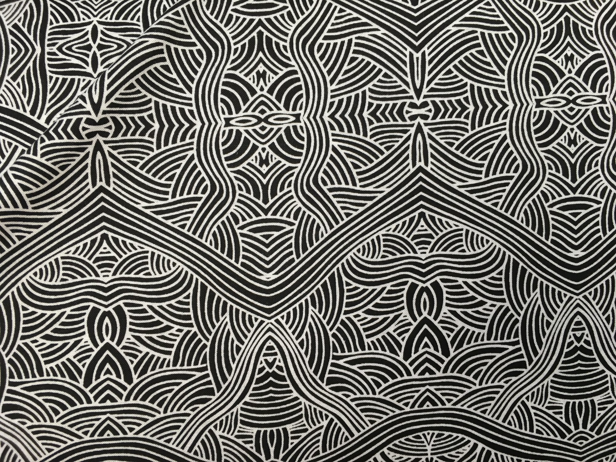 UNTITLED BLACK UNB by M&S Textiles