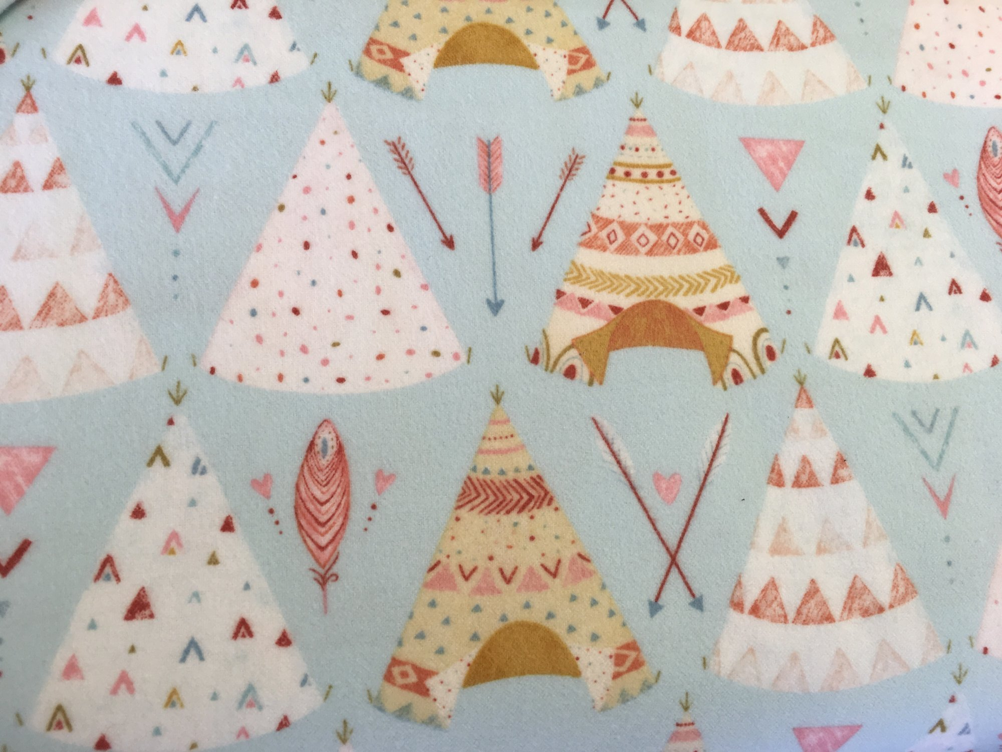 Dream Catchers Blue Tee Pees Flannel