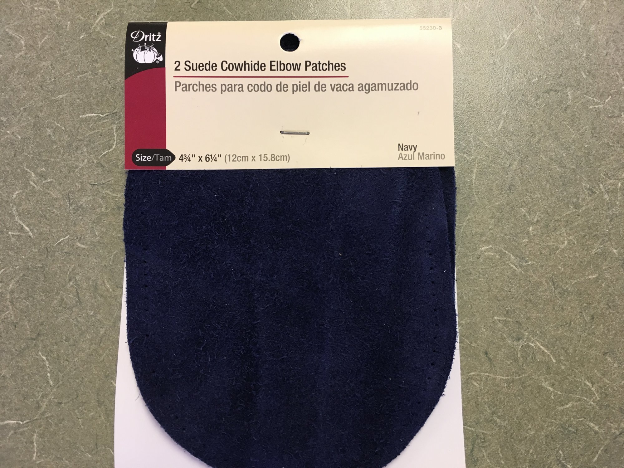 Navy 2 Suede Cowhide Elbow Patches Dritz. 552303