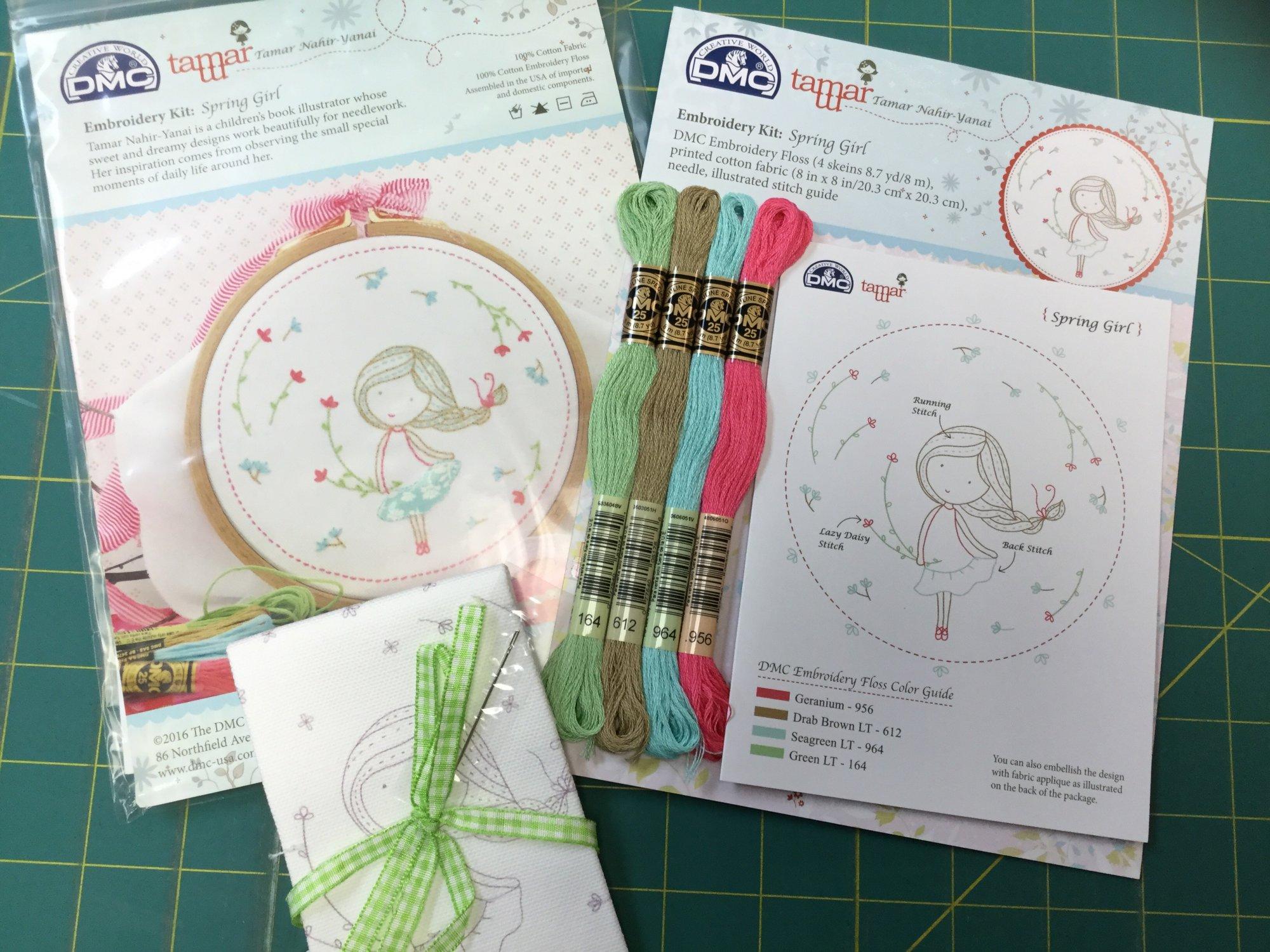 Spring Girl Embroidery Kit DMC