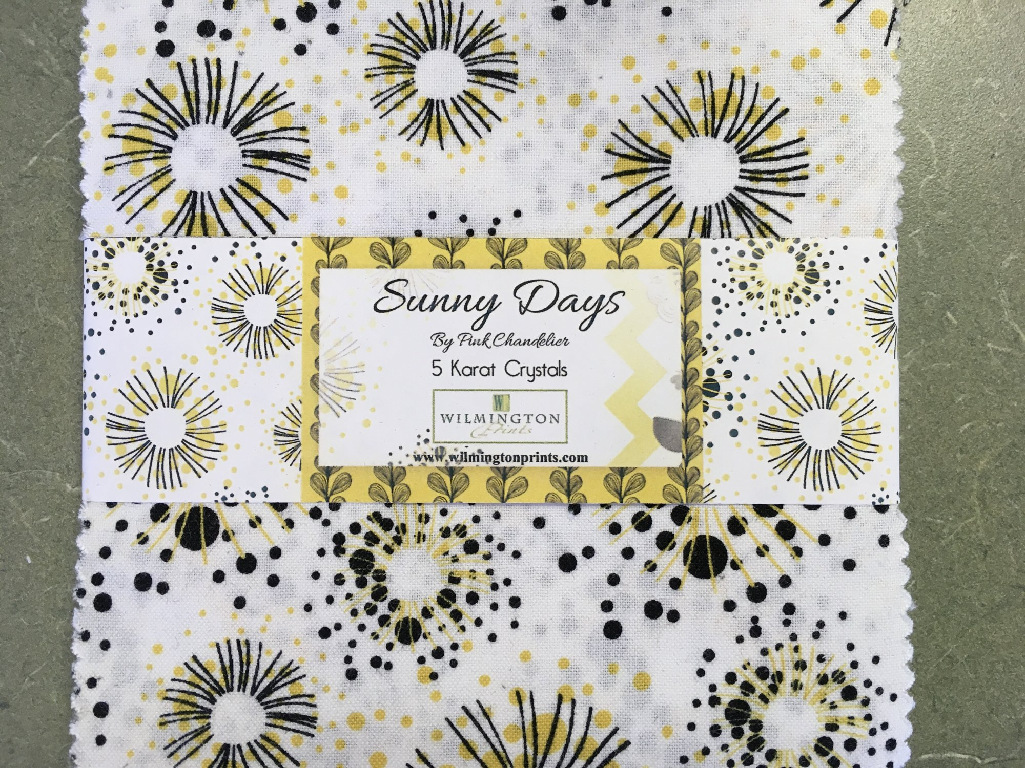 Sunny Days 5 Karat Crystals 5 inch Squares