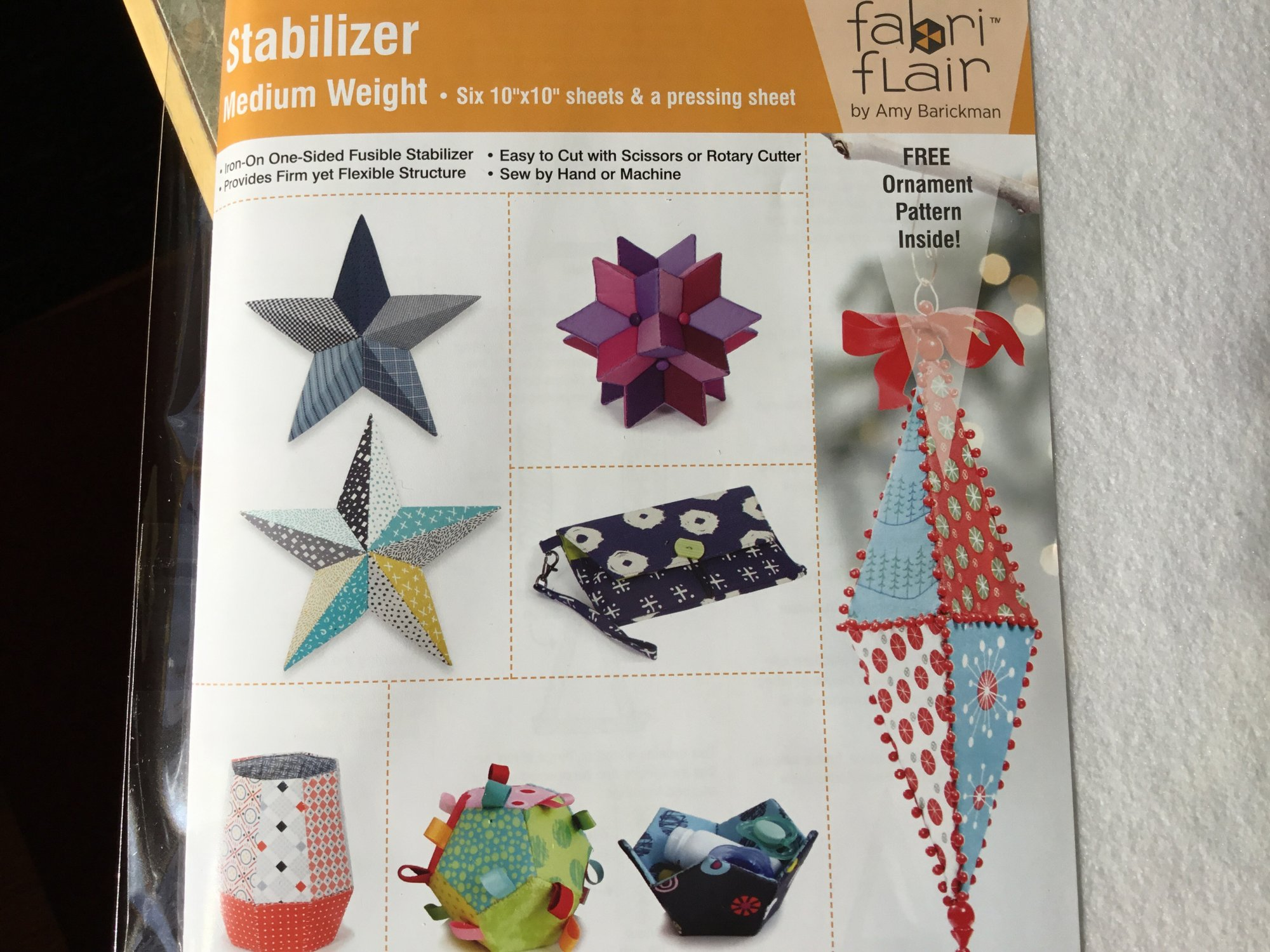 FABRIFLAIR STABILIZING SHEETS 10 INCH SQUARE IJFS101 Amy Barickman
