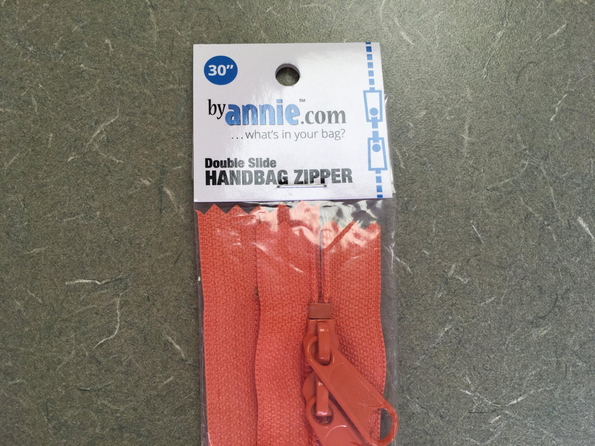 30 inch Pumpkin Double Slide Zipper