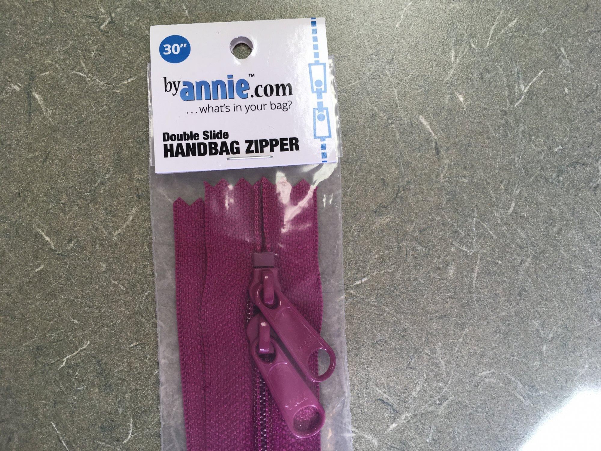 30 inch Wild Plum Double Slide Zipper