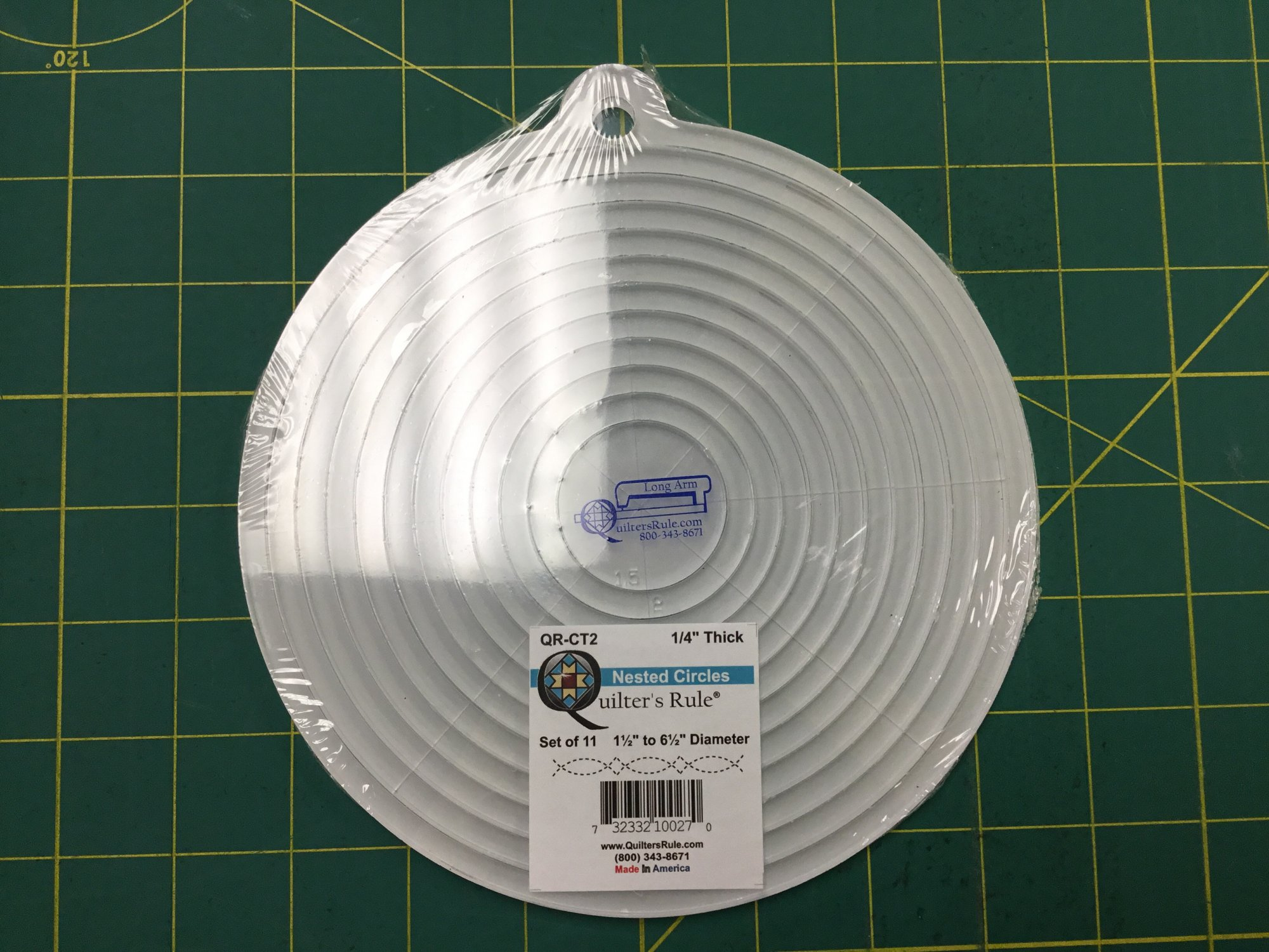 NESTED CIRCLES RULERS QRCT2 1/4 thick