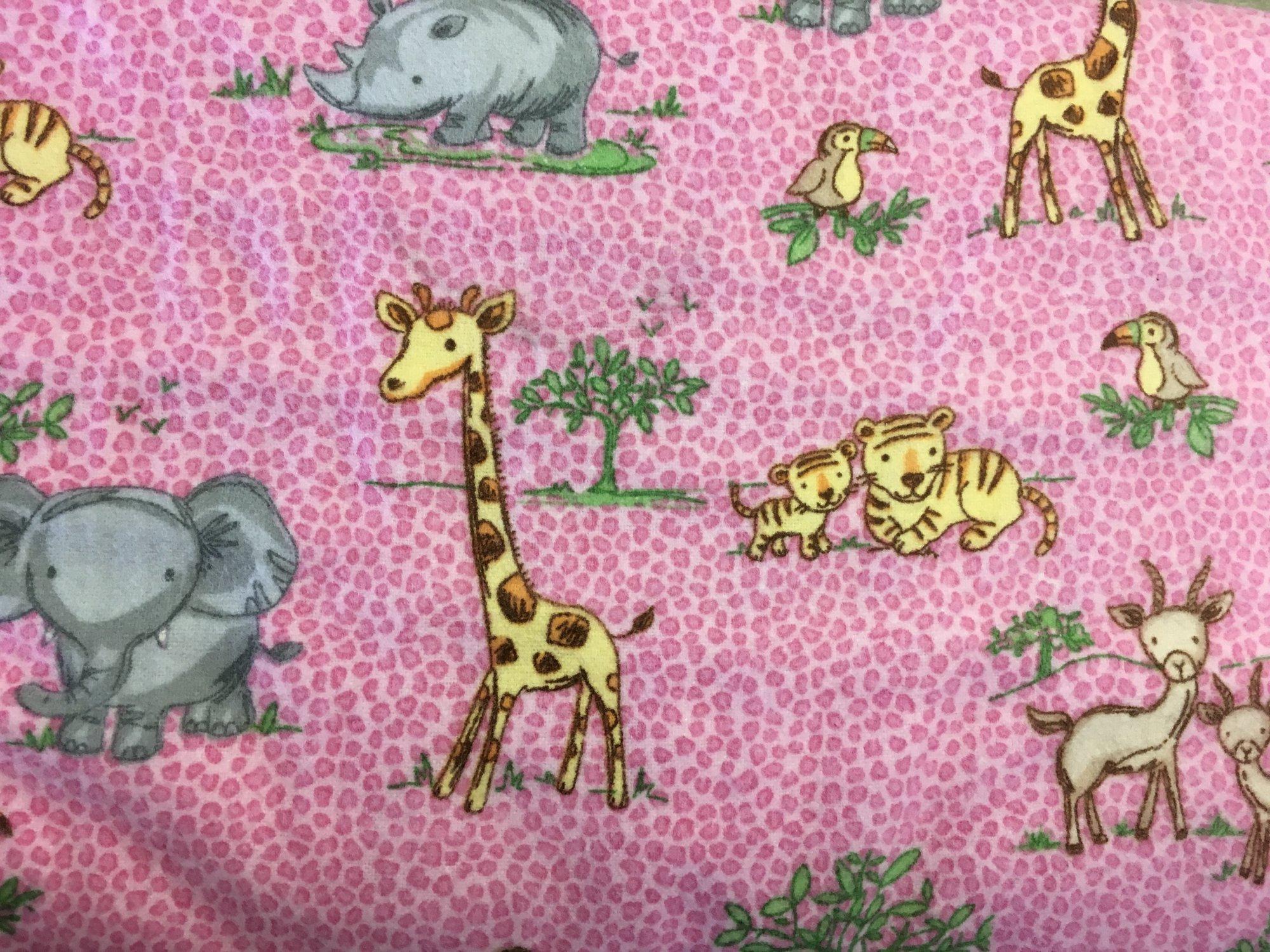 Comfy Prints Pink Jungle Flannel