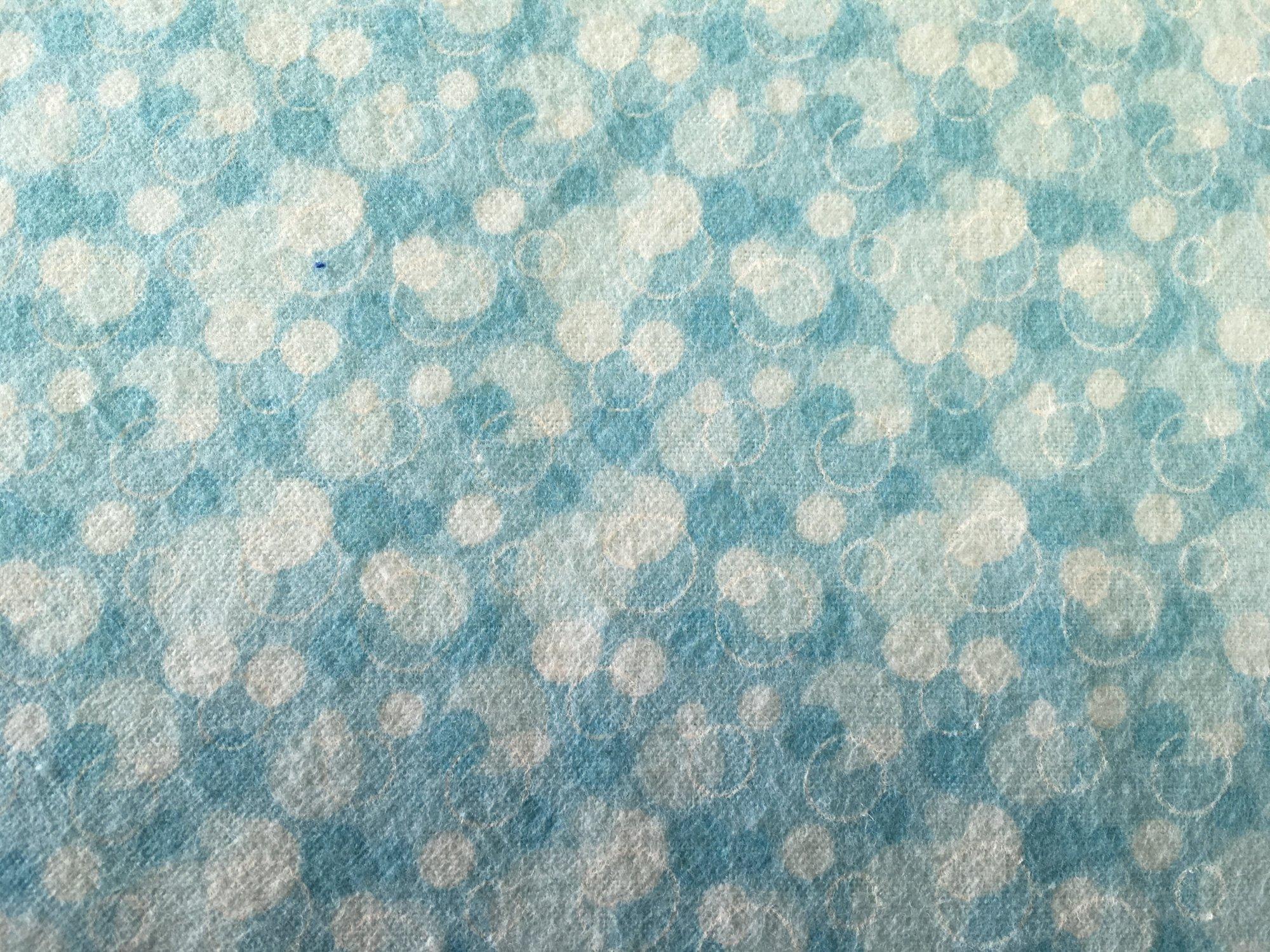 Comfy Prints Aqua Bubbles Flannel