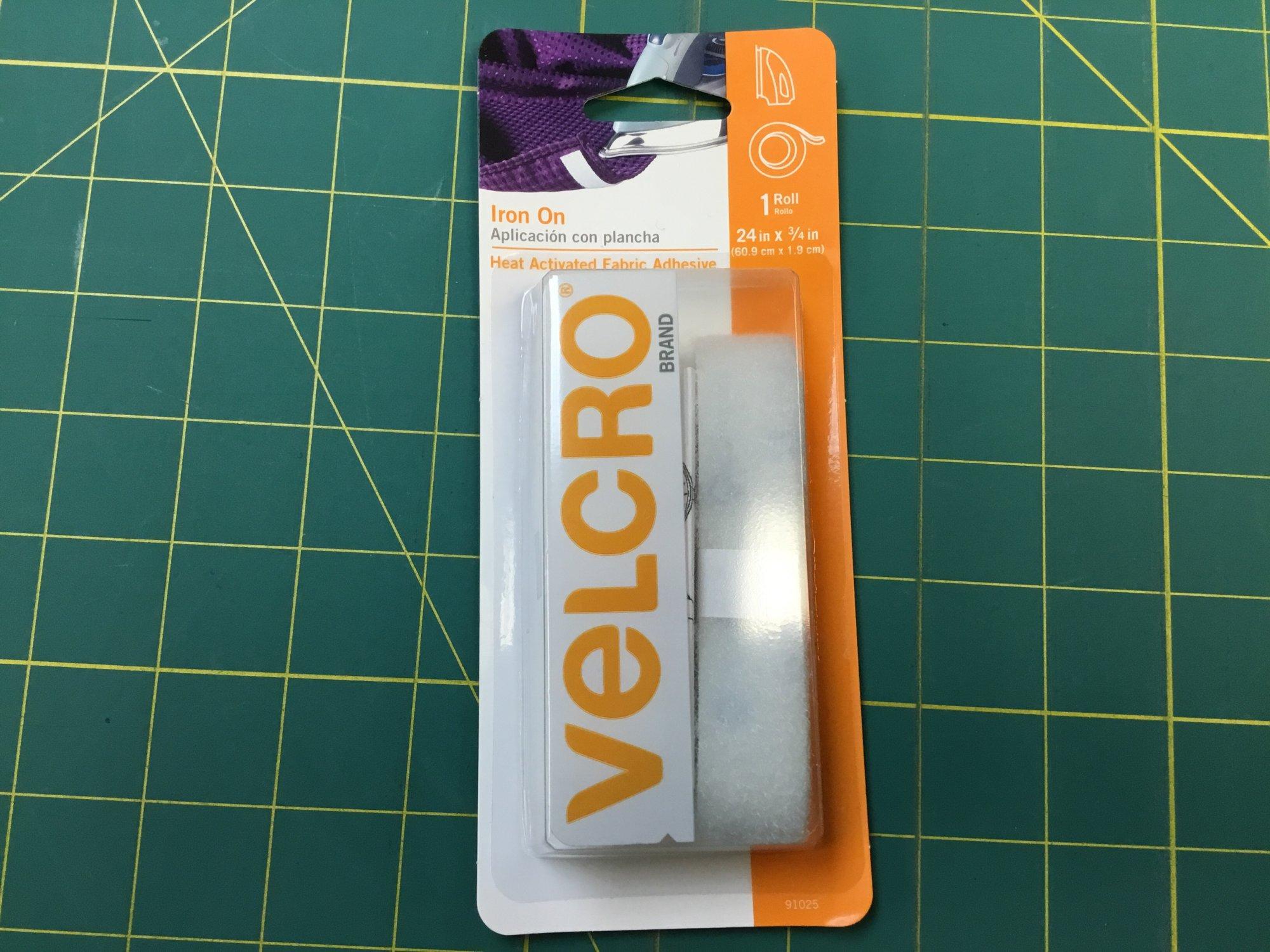 iron On White Velcro 24 x 3/4 inches